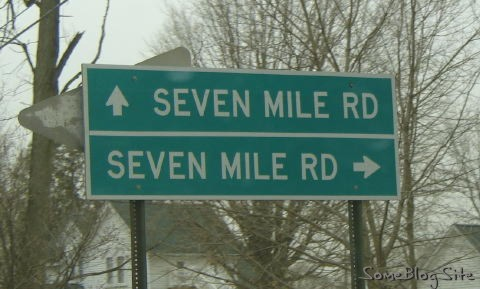 Seven Mile Road sign